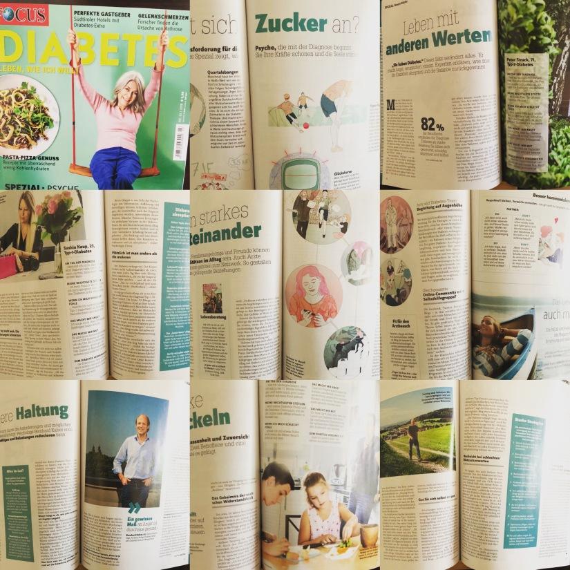 """Focus Diabetes mit Spezial Psyche: """"Glücklich leben – die Kunst, an Diabetes zu wachsen und innere Stärke zugewinnen"""""""